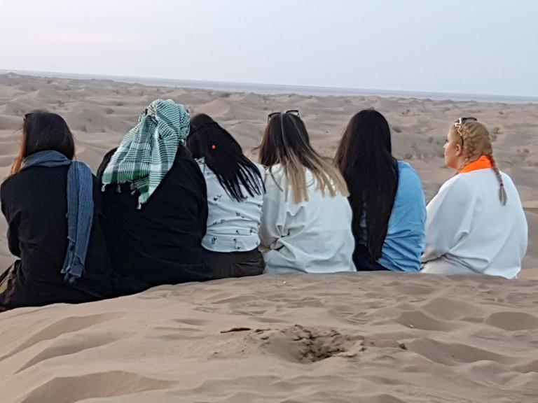 In Iran's Dasht-e Kavir Desert. Photo © Anne-Coralie Bonnaire