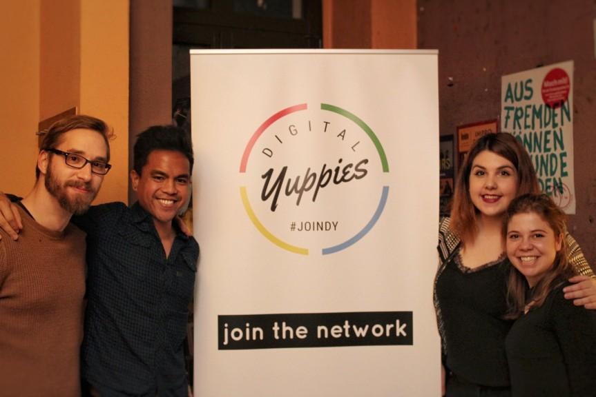 The Digital Yuppies Leipzig Team: Mario Wentzel, Shawn Segundo, Katerina Maria Kon, Marilu Valente. Photo © Digital Yuppies