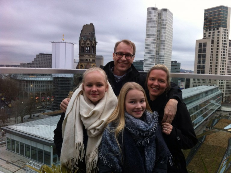 The Garrett family: Crister, Claudia, Kajsa, Sanna. (Photo courtesy of family)